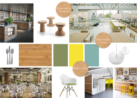 Interieur moodboards voor restaurant espresso bar ziekenhuis for Decoration interieur cafe bar