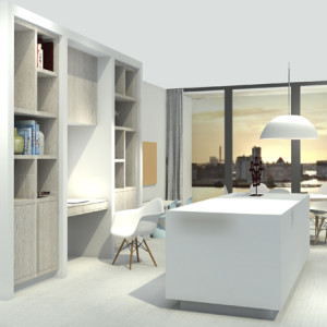 Work in progress: appartement Overhoeks in Amsterdam Noord